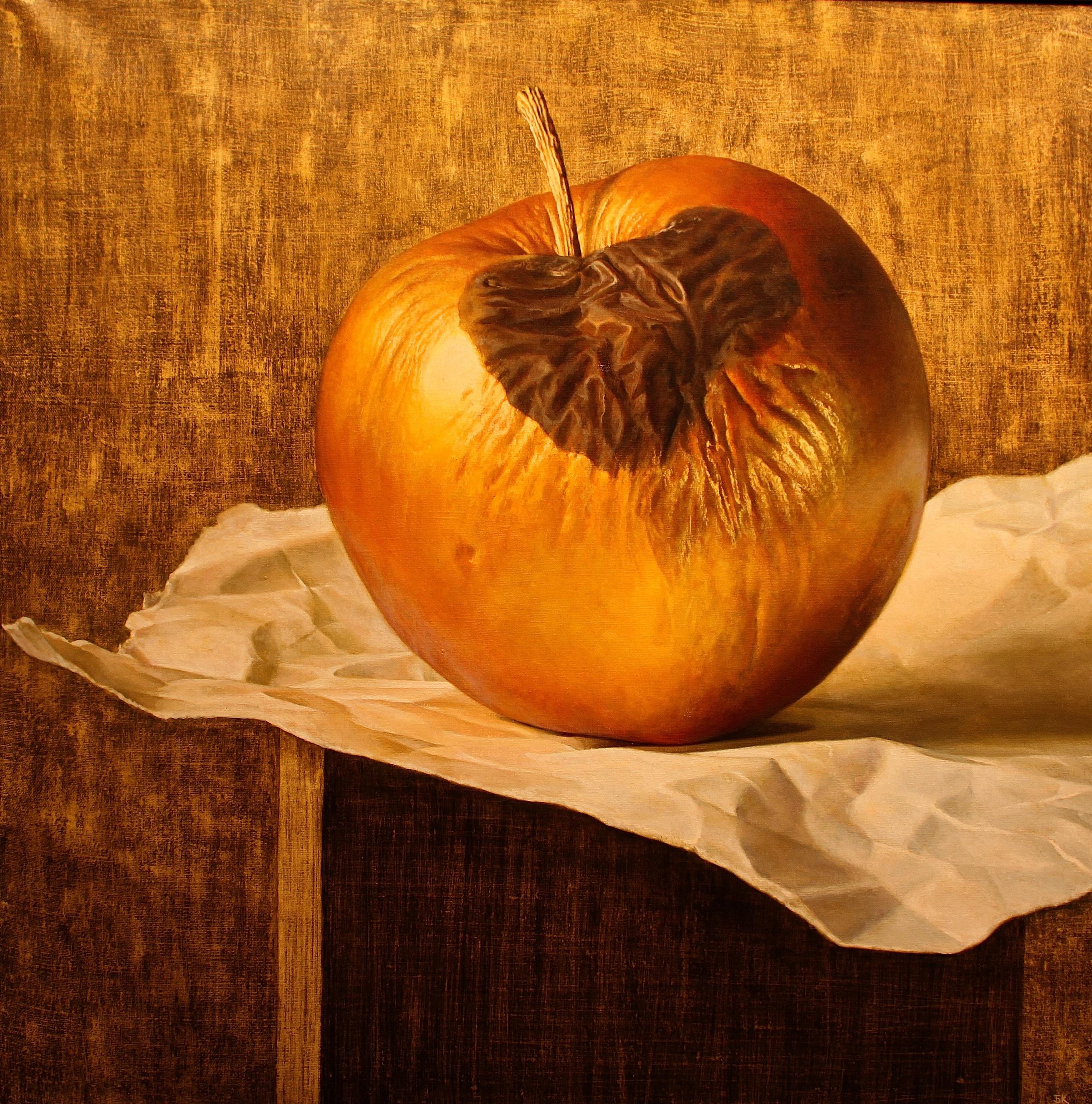 """Бойко Колев, """"От другата страна"""" (Златната ябълка), акрил, ??курка и масло върху платно"""