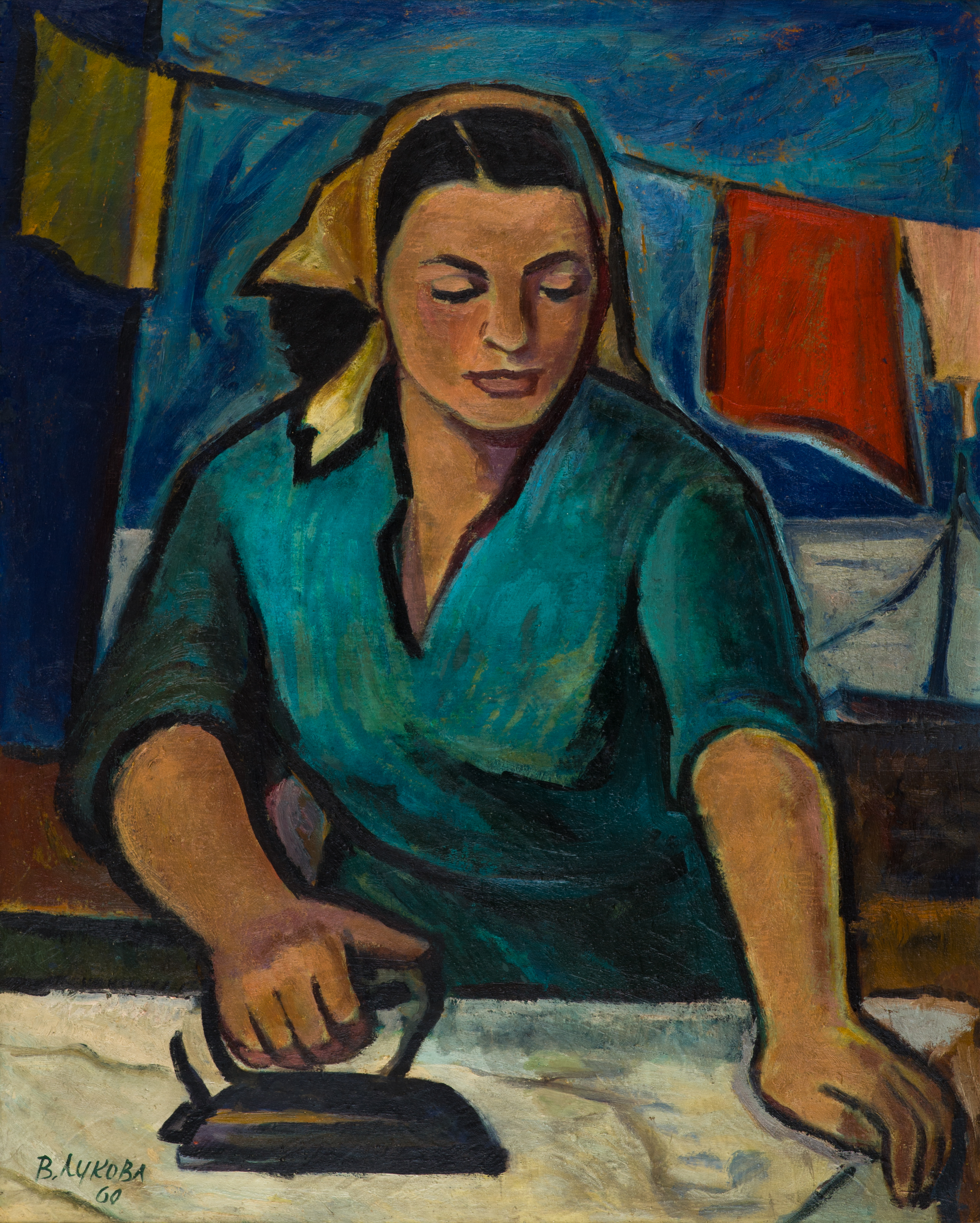ВЕРА ЛУКОВА - Жена с ютия