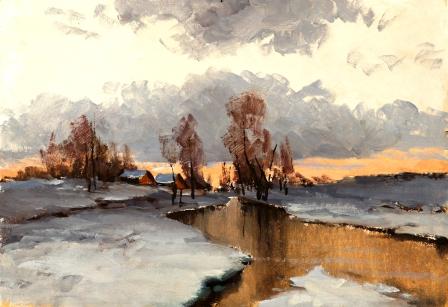 57 Кирил Матеев - Река през зимата
