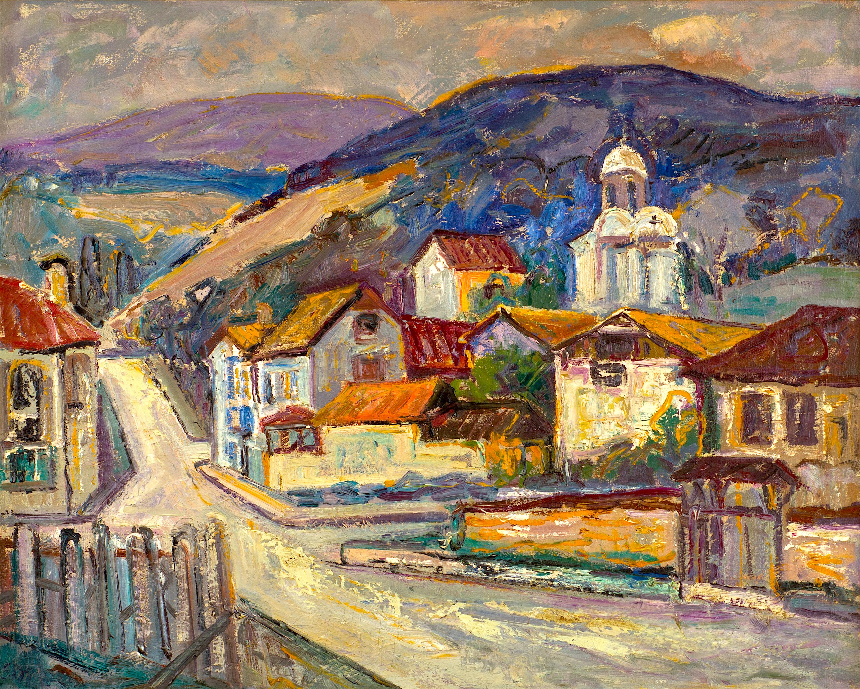 23 Евгени Томов - Село в планината