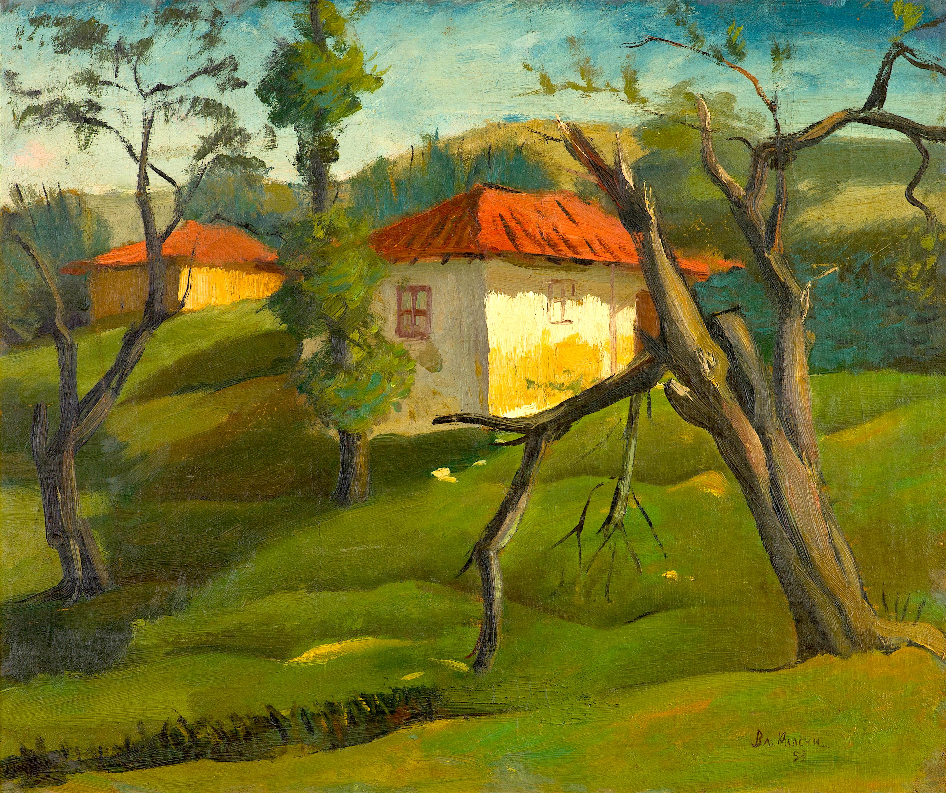 67 Владимир Рилски - Пейзаж с къща