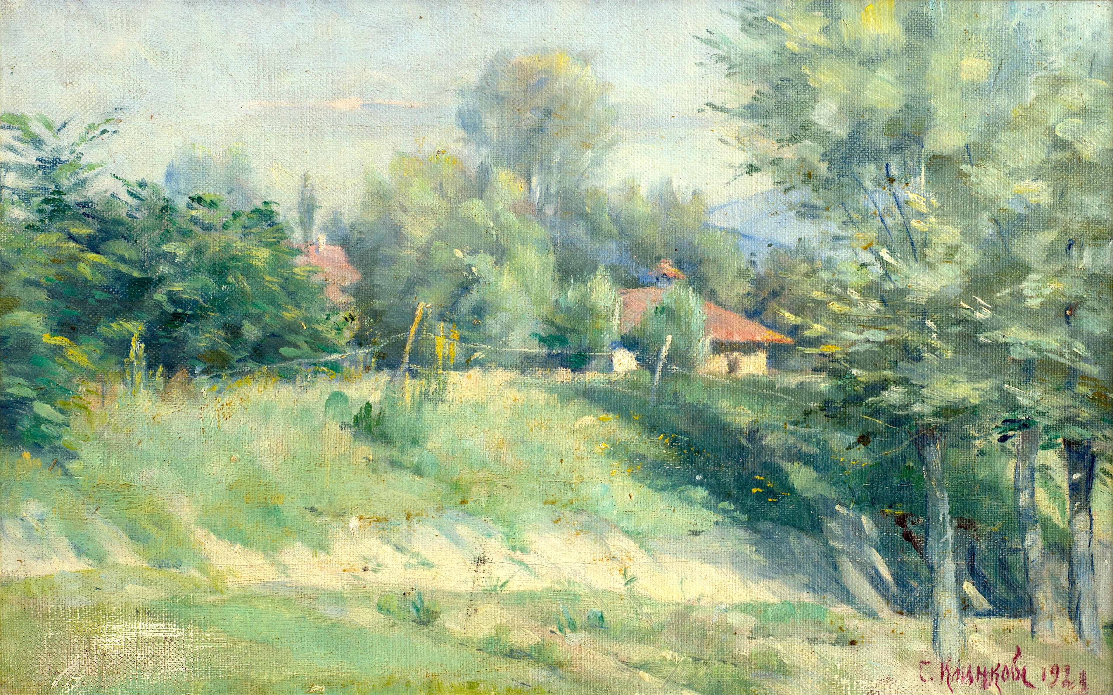 Сотир Клинков - Планински пейзаж с ограда