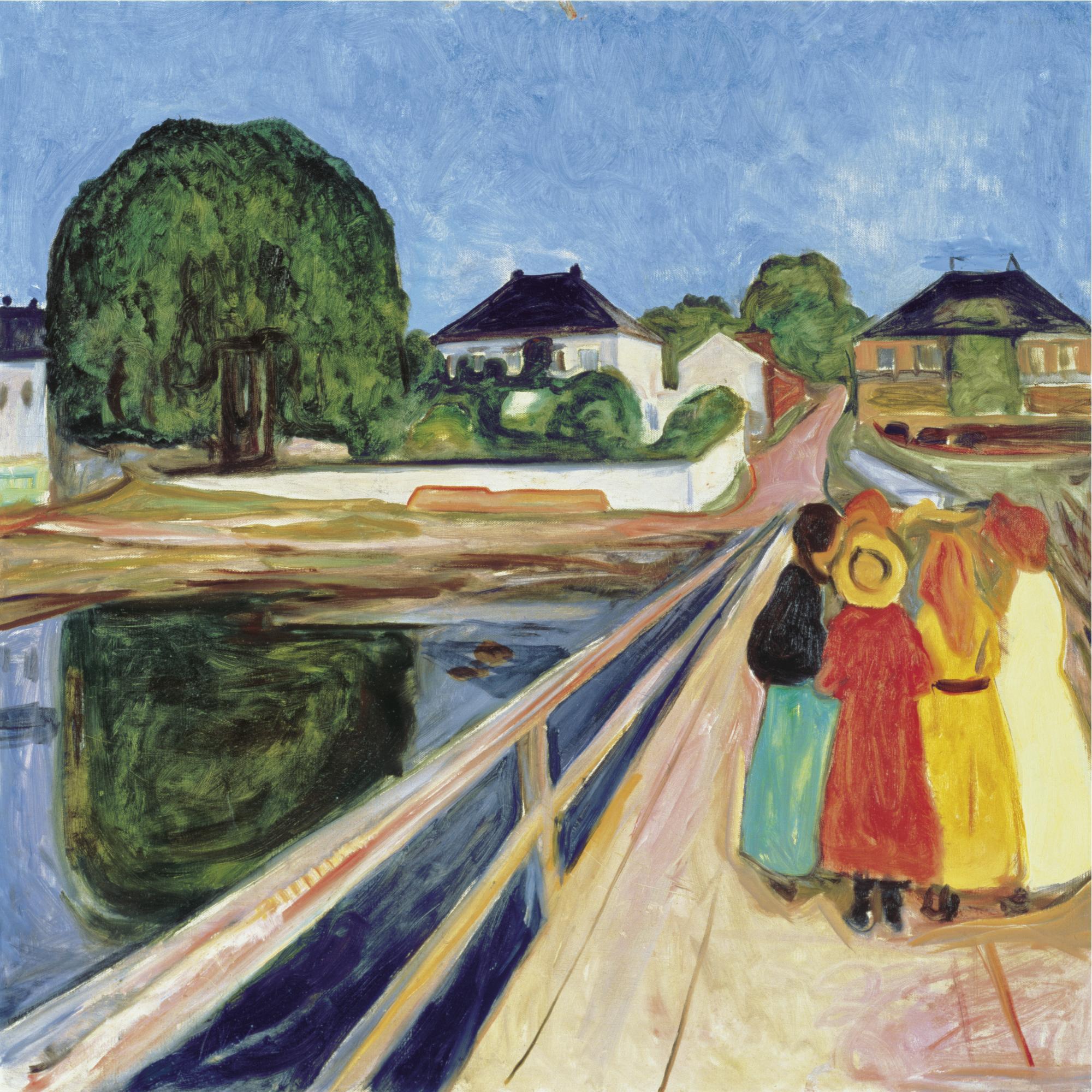 Едвард Мунк, Момичета на моста