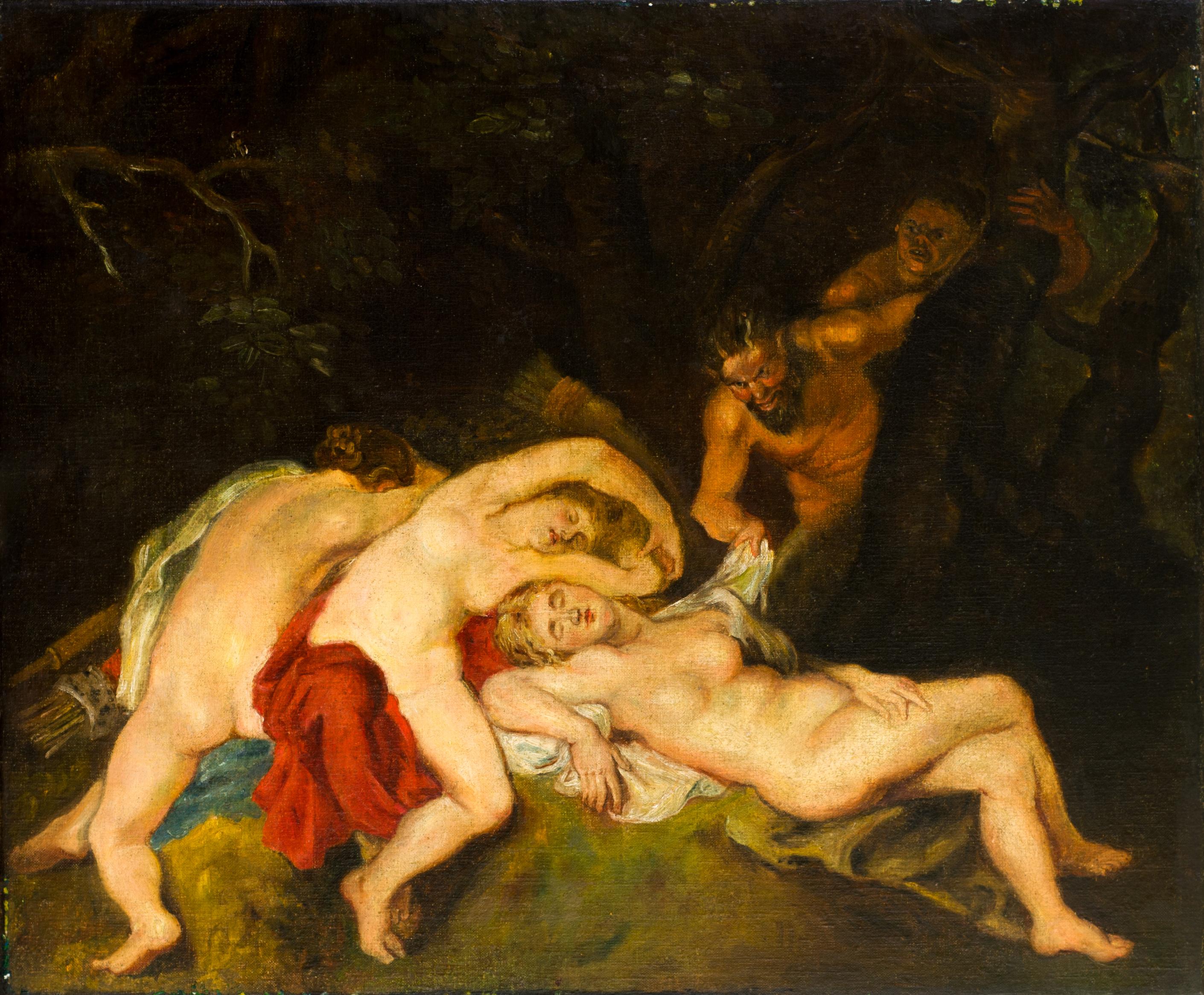Георги Машев, Копие на Фламандска живопис, м.б./пл., 49х60cm